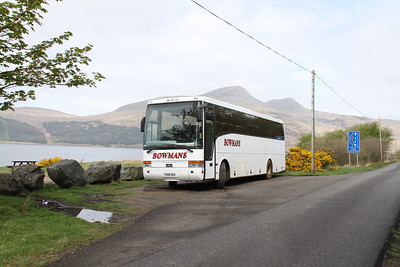 Bowmans T608DGB somewhere on the road to Iona