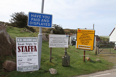 Vehicular Access to Iona by Permit Only - shouldn't that be by ferry only......?