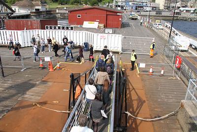 Dunoon - foot passengers disembark
