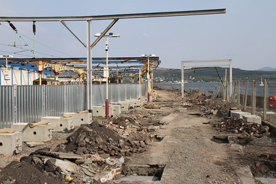 Gourock Station walkway to the ferries being improved....