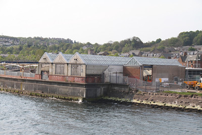 Gourock Station - new frontage to extreme right