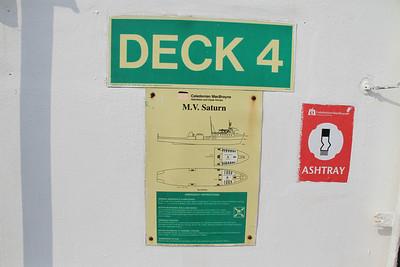 MV Saturn emergency instructions