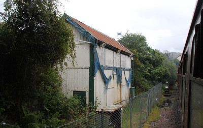 Signalbox in tatters