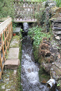 Running water at the bottom of the garden