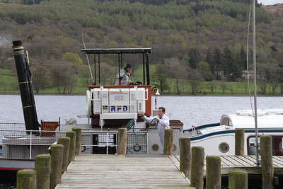 Tying up at Coniston Pier