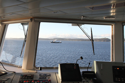 Coruisk through the very big window on Bute wheelhouse
