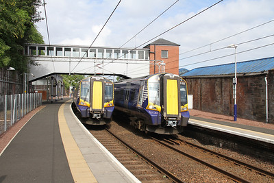 380008 and 380020 at Port Glasgow