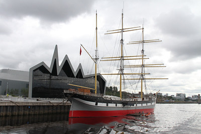 Glenlee sits outside the Riverside Museum