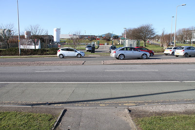 A956 Ellon Road at Parkway roundabout - pedestrian provision