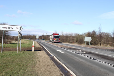 A9 at Luncarty north at grade junction