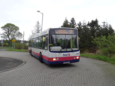 62158 at Limerigg turning area