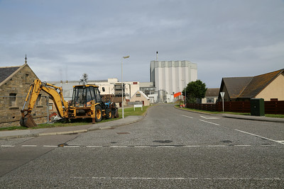 Maltings access road constructed above rail alignment. Road overbridge now removed