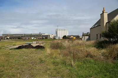 Burghead New station site looking towards Hopeman