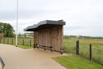 Inverness Campus bus shelter - a bit Flintstones