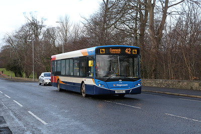 27596 is one of a pair of ex SPT E300s on A70 Holmston Road