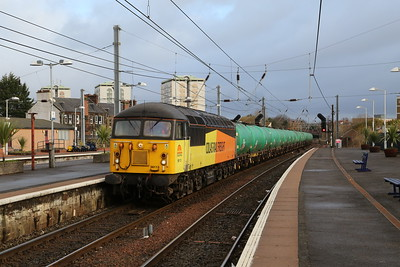 56113 arrives at Ayr with 6R46 Grangemouth Ineos - Prestwick to run round