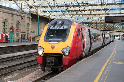221104 solo on the 0652 Edinburgh - Euston.   Curiously, the previous time I used this service it was 221103 and 221105.....