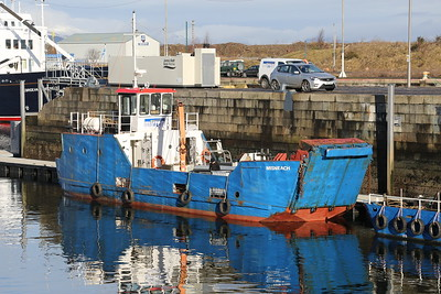 Misneach started life on the Burtonport to Arranmore run, she then moved to the Bere Island run, displaced in both cases by CalMac kit!   Now works for the Professional Diving Academy at times