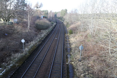 Former Culloden station looking north