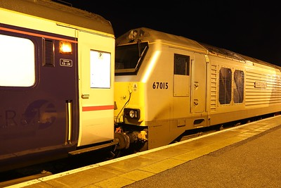 67015 in Chiltern livery at Inverness heads up 1M16 for Euston