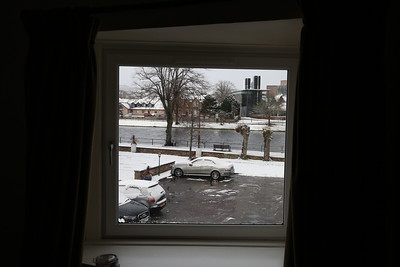 I didn't pay for a river view, but got one anyway.    Snow was a bit of a tooter.