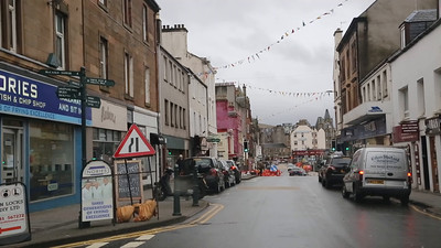 This is work, but sufficiently vague to be suitable for transmission.  Round tour of Oban
