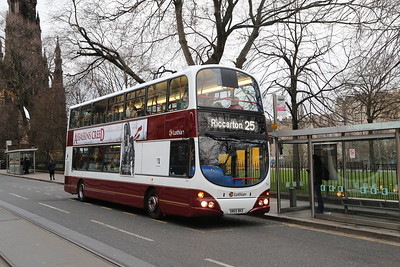 714 is a recent convert to the new livery for older vehicles.  I don't love these digital displays but they are clear!