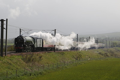 60163 Tornado approaches Dunbar almost silently - nearly missed her....