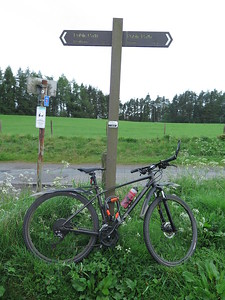NCN765 picks up the solum at Argaty after a wee trundle on the A820 out from Dunblane