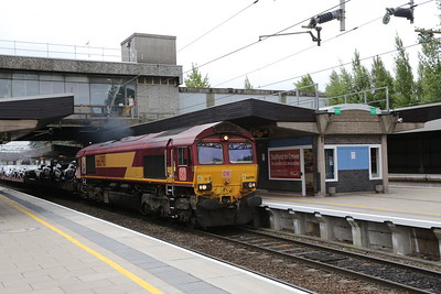 66090 catches me unawares northbound at Stafford on a car train