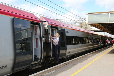 Tammie who made an announcement to say 'ignore RTT' after I had queried whether the train was stopping at MKC after having been 'retimed' at BNS to become 1B38 which showed as non-stop from COV to EUS.  Inconveniently I arrived 28 minutes late on the original 9M50 timings.