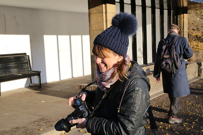 Shirley from the Edinburgh Photographic Society before she noticed me....