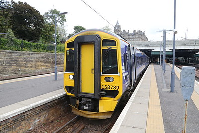 158789 is the 1139 to Perth.  Interior was nicer when she arrived from Network South East (or whoever it was)
