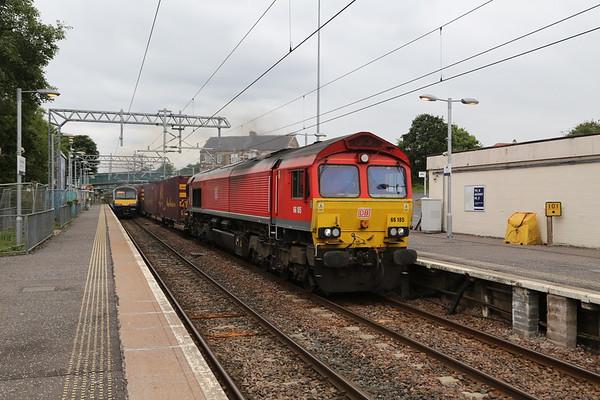 66185 picks up the pace through Cumbernauld