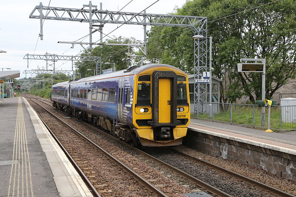 158708 working from Falkirk Grahamston to Glasgow Queen Street - I suspect this will be the last time I photo a DMU on this run.