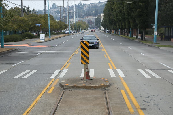 Streetcar stop block