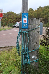 Glentruim NCN7 horse parking rope