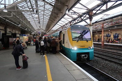 175011 left passengers at Crewe bound for Carmarthen