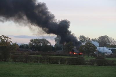 Farm on fire outside Crewe