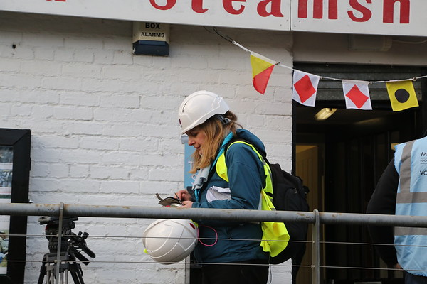 Aileen Clarke. Not sure about the spare hard hat...!