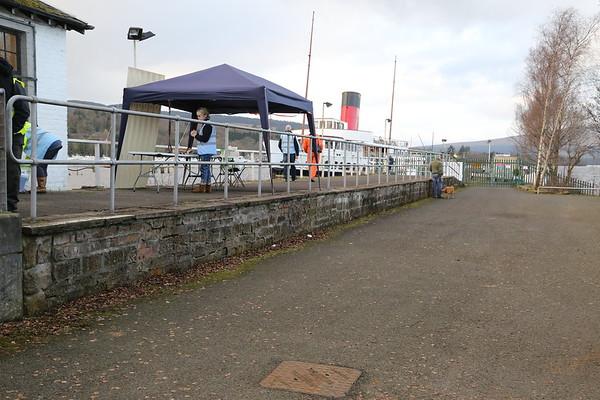 Platform of the Balloch Pier station