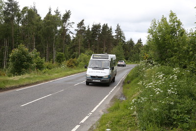 Ross's Minibuses BU04 UTN on school duties south of Beauly