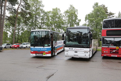 JSV362 of Kineil and S33YST of D&E Coaches in Carrbridge