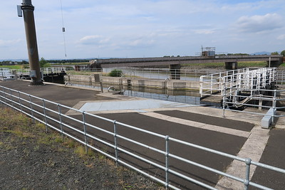 Sea lock at the end of the Forth and Clyde canal