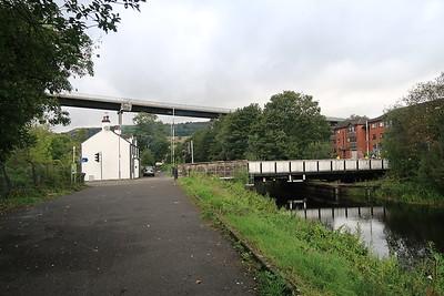 Erskine Bridge dominates the view at Old Kilpatrick