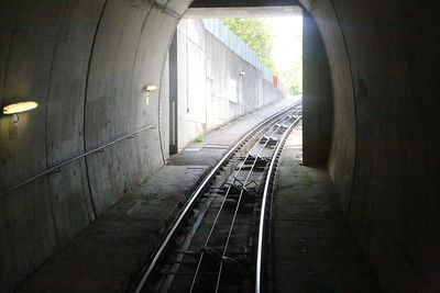 emerging from tunnel towards Lowenhaus