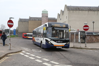 26134 SK68LVU departs Elgin on a 34 local for Bishopmill