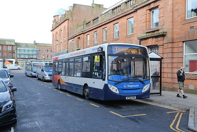 36704 on the 1 local service to Locharbriggs seen here on Three Crowns Court, Dumfries