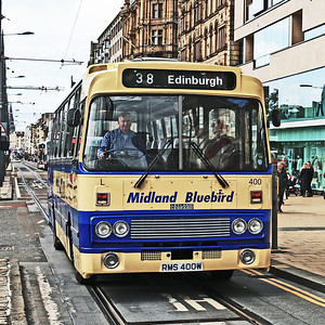 Peter Little has allowed me to host his photo of me driving MPE400 on Princes Street