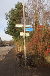 Kirkintilloch A803 Kilsyth Road - route south of here to the Forth and Clyde Canal is not on old solum.